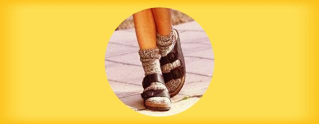 靴下と合わせても可愛いビルケンシュトックのコーディネート