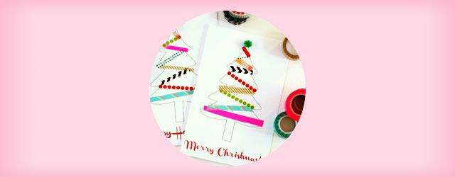 簡単で可愛い「クリスマスカード」の作り方アイデア集