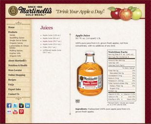 マルティネリ社のアップルジュース