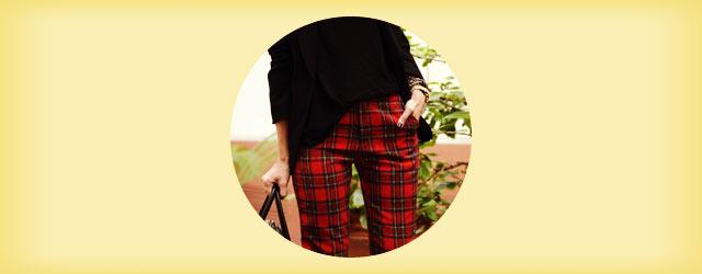 秋冬も可愛い「チェック柄パンツ」の着こなし・コーディネート