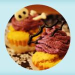 pumpkin_n_purplesweetpotato_haloween_muffin_recipe