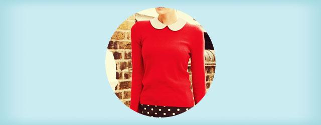 「赤・レッドのニット&セーター」の着こなし・コーディネート