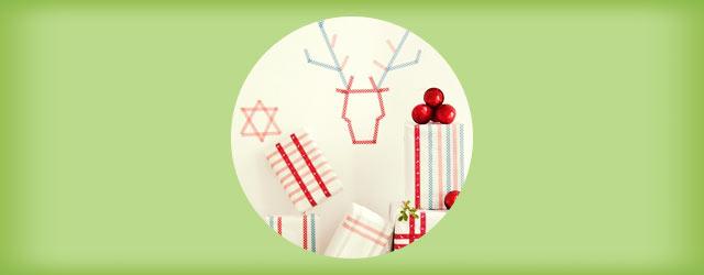 """「マスキングテープ」を使った""""クリスマス""""の飾り付け&デコレーションアイデア"""